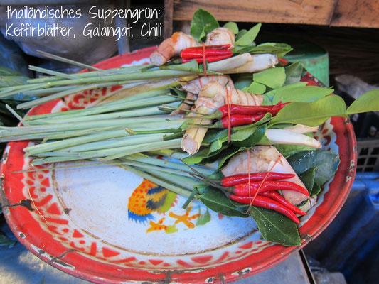 Klong Toey Markt thailändisches Suppengrün