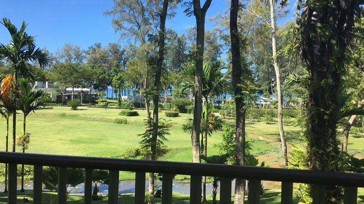 Blick vom Balkon im Block F - Dusit Thani