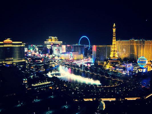 Blick vom Balkon Cosmopolitan Hotel Las Vegas