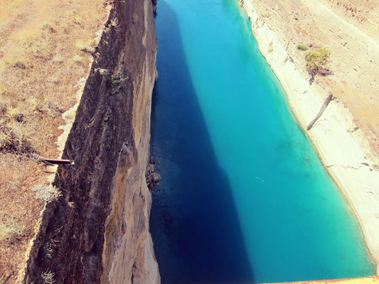 Kanal von Korinth Brücke