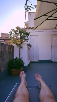Dachterrasse Posada Terra Santa