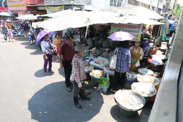 Zugfahrt Mahachai Train Market