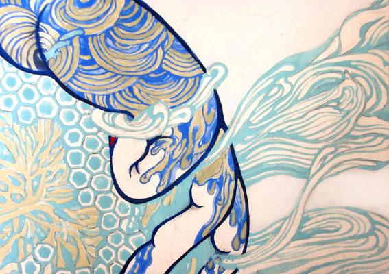 アコガレ    15cm×21cm 麻紙に岩絵具