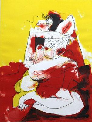 Masuo Ikeda/ 池田満寿夫「うさぎ」リトグラフ 1980年