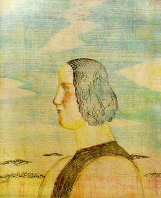 有元利夫「ヴィヴァルディの四季より秋」 銅版画 1981年