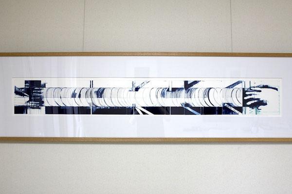 若林奮 「鮭の振動尺 1-b」 銅版画 1978年