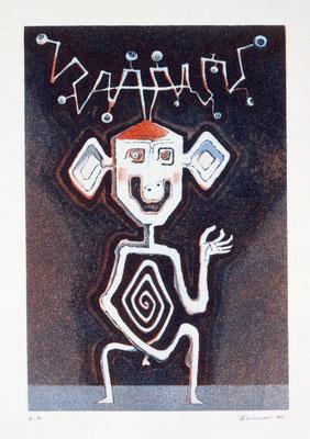 Chimei Hamada/浜田知明「いらいら」 銅版画 1970年