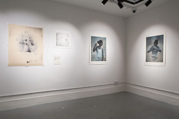 left:woodcut works by Kanako Watanabe   right:photo etching works by Margaret Ashman