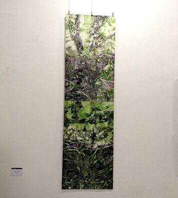 永井雅人「Textures 2016」銅版画、油彩