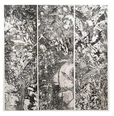 海の誕生 2007年 銅版画、コラージュ S100 大阪芸術大学蔵
