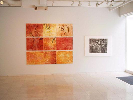 左、飢えた獣たちに身を捧げるシッダールタ 2005年 銅版画、木版画、他