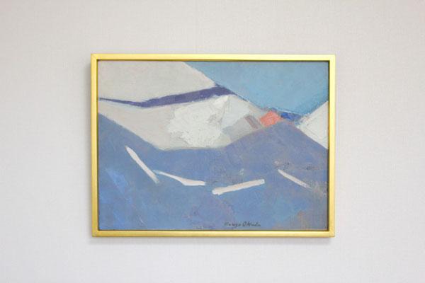 岡田謙三 「white with blue」 キャンバス、油彩 1961年