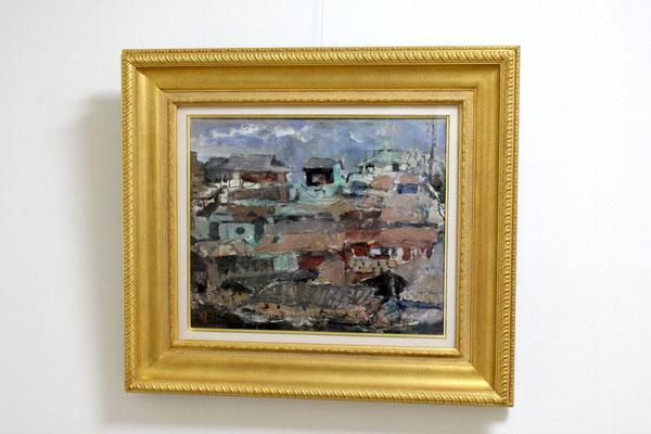 須田国太郎 「村」油彩、板 1952年頃