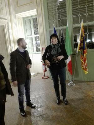 Cerimonia di chiusura RIFLESSI DI STORIA presso Villa Vecelli Cavriani 4 Novembre 2018 con Cristiano Ambrosini