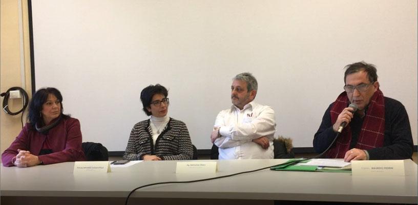 Presentazione con Preside Prof. ssa Uttilla, Presidente %^Circoscr. VR Raimondo Dallara e Prof, Maurizio Pedrini presso  Scuola Media Mario Mazza, Verona
