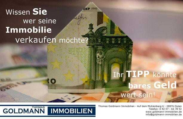 Tippvergütung - Thomas Goldmann Immobilien