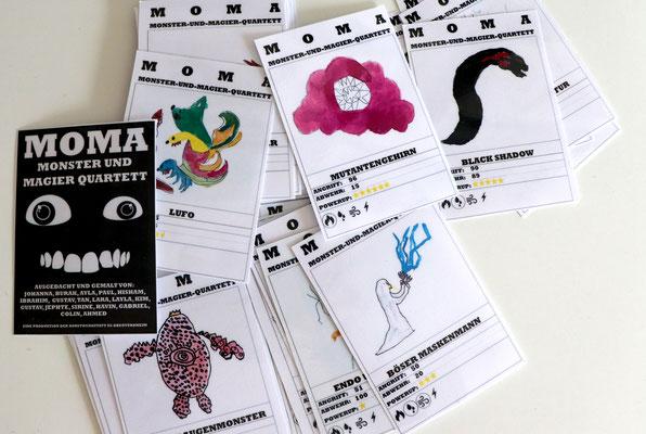 Monster-und-Magier-Kartenspiel entstanden im Mittagsband