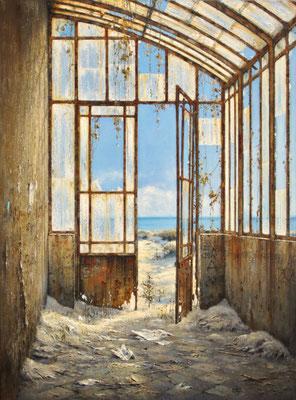 LA SERRE DES SABLES - 2021 - Huile sur toile - 81 x 60