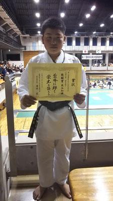 組手敢闘賞萩谷選手