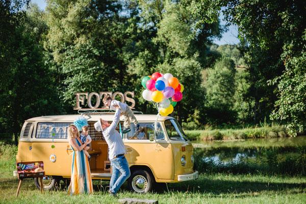 Fotobulli Fotobox Fotodrucker mieten VW T2 Bulli