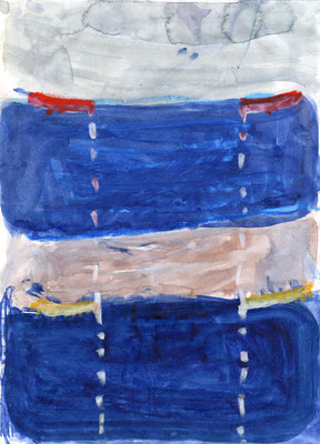 21.0×29.7cm water color・ water crayon 「crying in sympath」