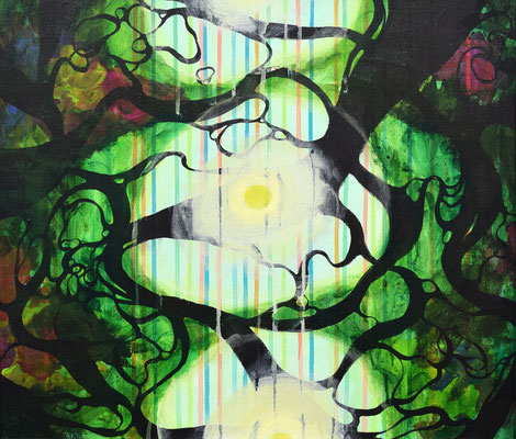 F10号 53.0×45.5cm   acrylic on canvas   「forest 002」 ■sold out