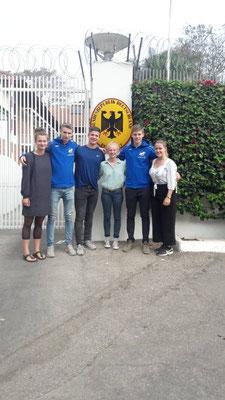 Unsere WG bei der deutschen Botschaft