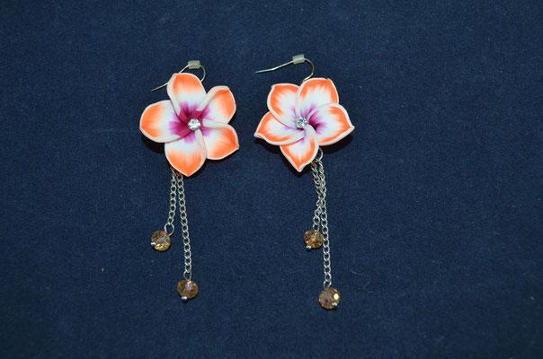 XXL Blüten Ohrringe, Modeschmuck, Preis: 2,50 €