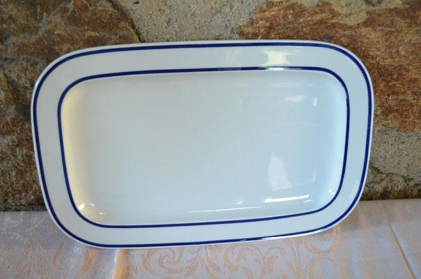 Rosenthal Fleischplatte/Servierplatte. Kobaltblauer Rand. Preis: 9,90 €