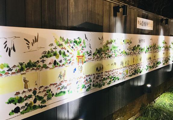 鴻巣今昔絵図壁画(ライトアップ)