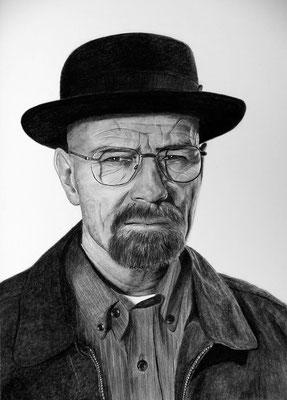 """Zeichnung """"Heisenberg"""", Schauspieler Bryan Cranston"""