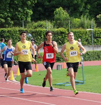 Aurel Hiltmann  800m  |  David Burgener  800m  |  Vinzenz Wolf  800m