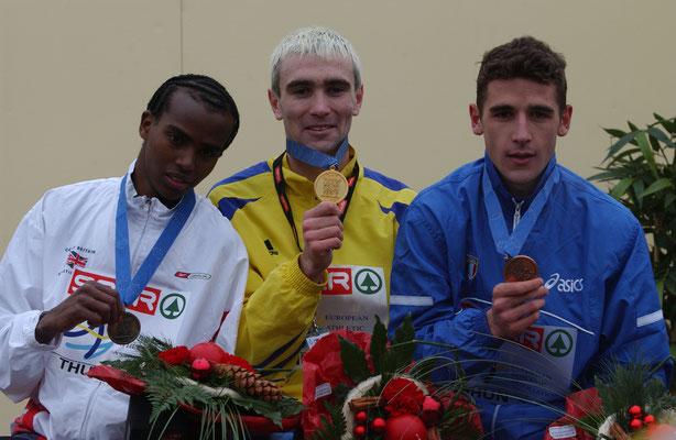 Cross-EM 2001 Junioren; 2. Rang Mo Farah GBR