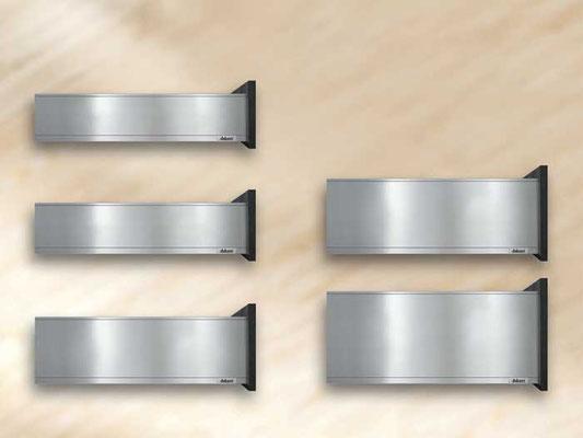 verschiedene Höhen für Stahlschubkästen
