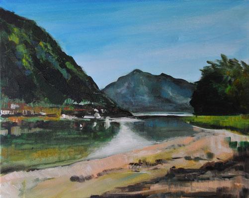 Walchensee, Acryl auf Leinwand, 40 x 50 cm, 2015, verkauft
