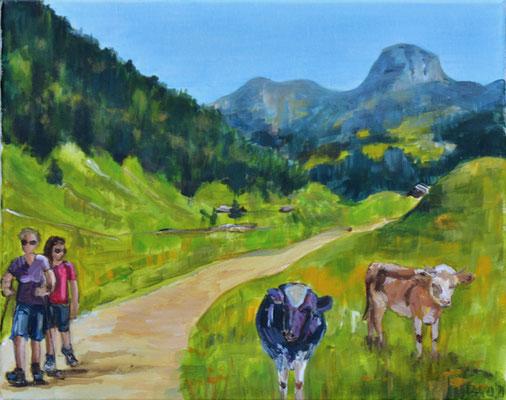 Bergszene, Acryl auf Leinwand, 40 x 50 cm, 2021