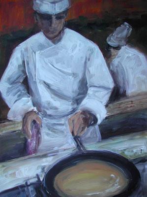 Köche, Acrylmalerei, 80 x 60 cm, 2009