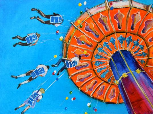 Kettenkarussell, Acrylmalerei, 60 x 80 cm, 2012, verkauft