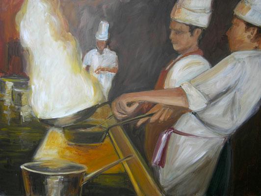 Flambieren, Acrylmalerei, 60 x 80 cm, 2009