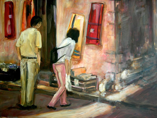 Provencialische Gasse, Acrylmalerei, 60 x 80 cm, 2008