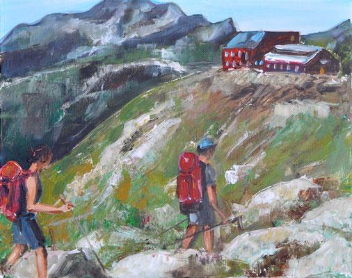 Wanderung, Acryl auf Leinwand, 40 x 50 cm, 2017