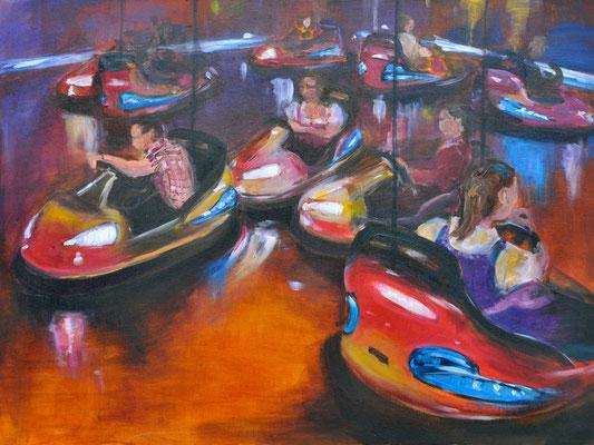 Autoscooter, Acrylmalerei, 60 x 80 cm, 2012