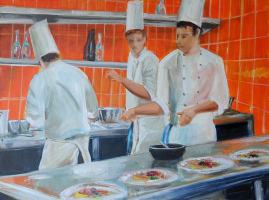 Köche, Acrylmalerei, 60 x 80 cm, 2009