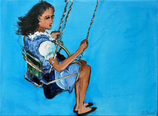 Kettenkarussell, Acrylmalerei, 40 x 30 cm, 2012, verkauft