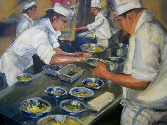 Küche, Acrylmalerei, 80 x 100 cm, 2009