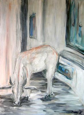 Kuh, Acryl auf Leinwand, 140 x 100 cm, 1992, verkauft