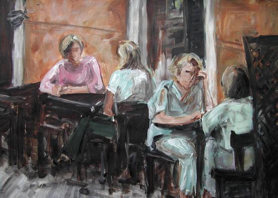 Straßencafé, Acrylmalerei, 50 x 70 cm, 2010