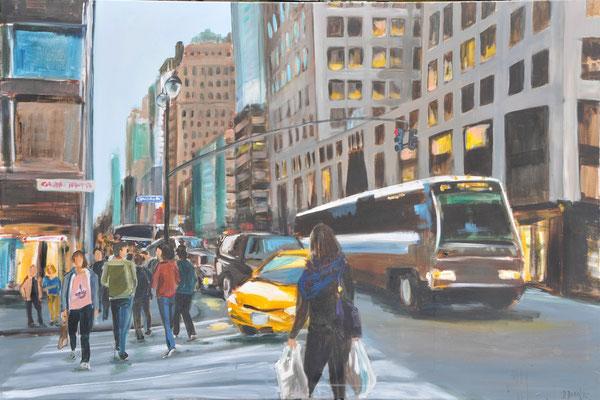 New York, Acryl auf Leinwand, 100 x 150 cm, 2015