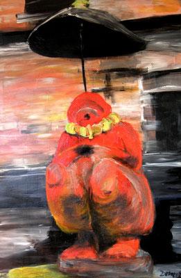 Hanumann, Acryl auf Leinwand, 120 x 80 cm, 1992, verkauft