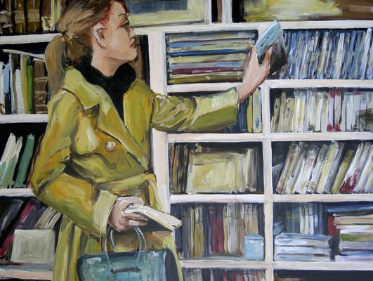 Bibliothek, Acrylmalerei, 60 x 80 cm, 2011, verkauft